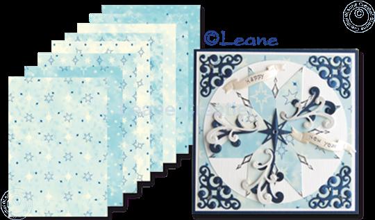 Afbeelding van Design papier blue tones A5
