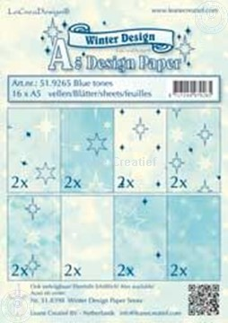 Picture of Design sheets blue tones A5
