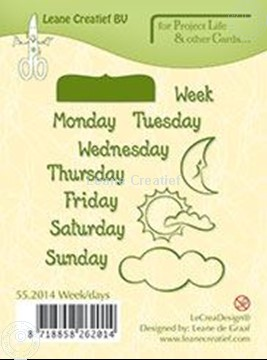 Picture of Week/days English text