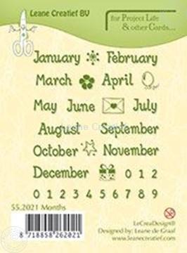 Afbeeldingen van Months English text