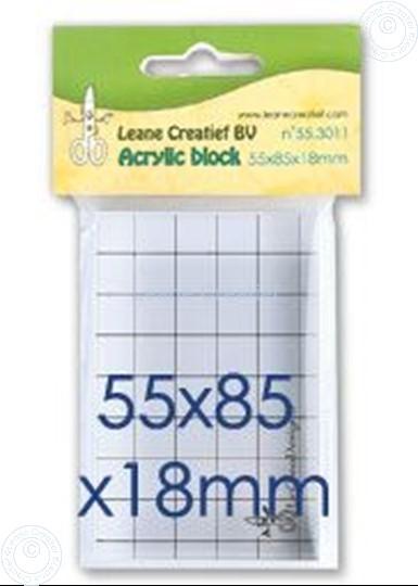 Afbeelding van Acrylic block 55x85x18mm