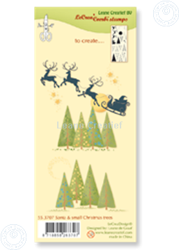 Image de Combi stamp Santa & small Christmas trees