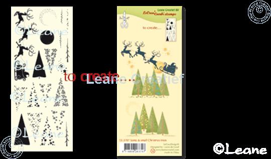 Afbeelding van Combi stamp Santa & small Christmas trees