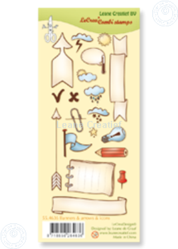 Bild von Clear stamp Banners, arrows & icons