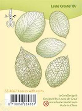 Afbeeldingen van Clear stamp leaves with veins