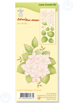 Picture of Clear stamp  Hydrangea 3D flower