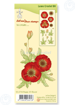 Picture of Clear stamp Poppy 3D flower
