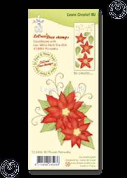 Afbeeldingen van Clear stamp 3D flower Poinsettia