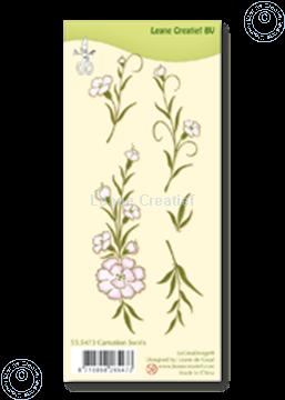 Afbeeldingen van Clear stamp Carnation swirls