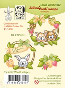 Afbeeldingen van Combi stamp Wreath with pets