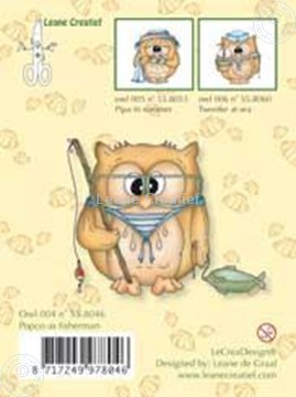 Picture of Clearstamp Owlie´s Owl004 Popco as fisherman