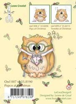 Picture of Clearstamp Owlie´s Owl007 Popco at Christmas