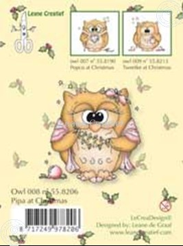 Picture of Clearstamp Owlie´s Owl008 Pipa at Christmas