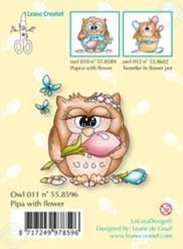 Picture of Clearstamp Owlie´s Owl011 Pipa with flower