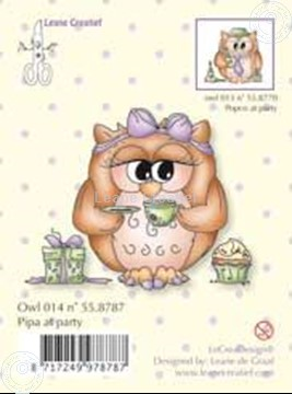 Image de Clearstamp Owlie's Pipa at party