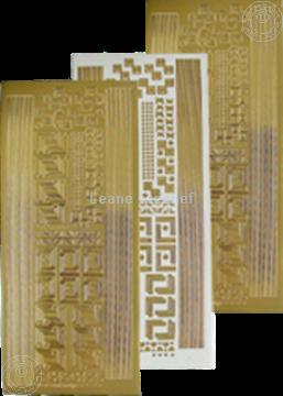 Picture of LeCreaDesign® Corner&lines sticker gold