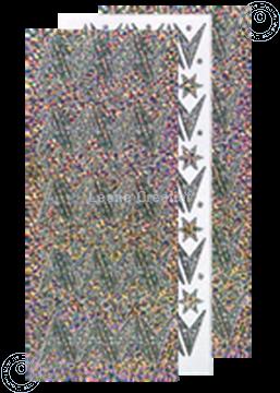 Afbeeldingen van Kerst stickers Diamant zilver ster