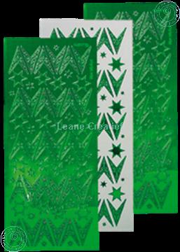 Image de Sticker de Noël mirror étoile vert