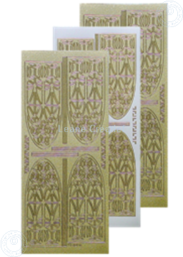Picture of LeCreaDesign® church window sticker pearl gold