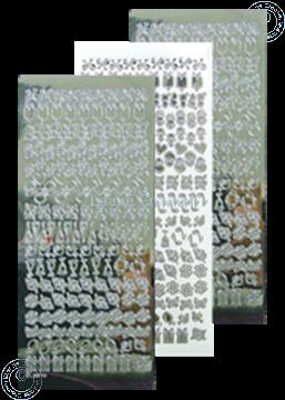 Picture of LeCreaDesign® lace ornament sticker mirror silver