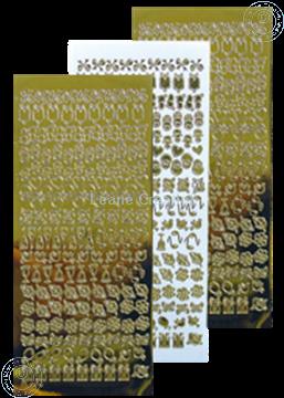 Picture of LeCreaDesign® lace ornament sticker mirror gold
