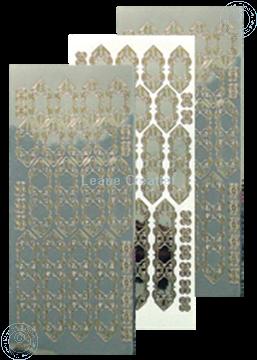 Picture of LeCreaDesign® lace sticker mirror silver/gold