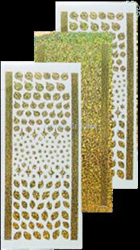Bild von Sticker Weihnachtskugeln & Stechpalme diamond gold