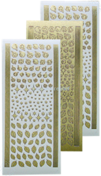 Bild von Sticker Weihnachtskugeln & Stechpalme pearl gold