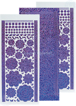 Image de LeCreaDesign® Sticker fleurs diamond/purple