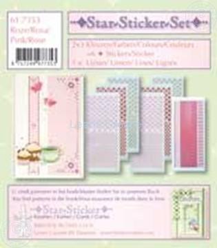 Afbeeldingen van Star-Sticker set roze