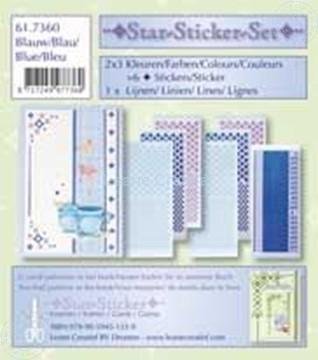 Afbeeldingen van Star-Sticker set blauw