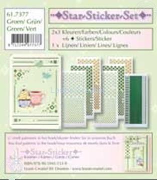 Afbeeldingen van Star-Sticker set groen
