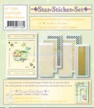 Afbeeldingen van Star-Sticker set goud