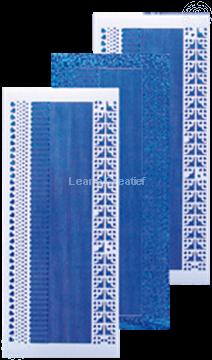 Afbeeldingen van Lijn stickers diamond blauw