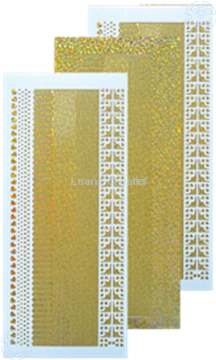 Bild von Linien Sticker diamond gold