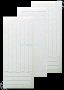Afbeeldingen van LeCreaDesign® Lace sticker wit
