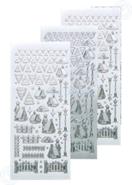Picture of Winter scenery sticker #40 silver