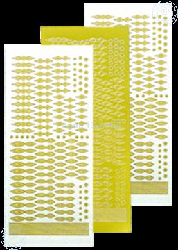 Bild von Star Sticker Christmas mirror yellow
