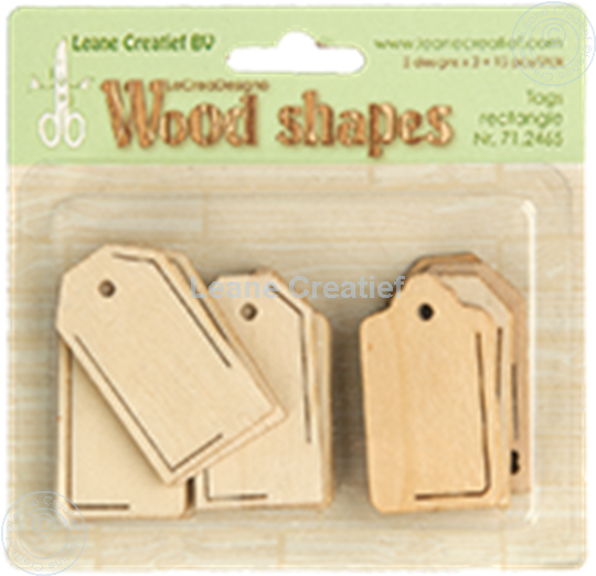Afbeelding van Woodshapes Tags rectangle