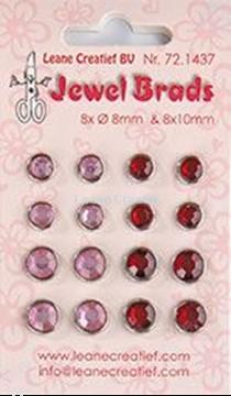 Afbeeldingen van Jewel brads bordeaux / light pink