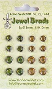 Picture of Jewel brads moss green/light gold