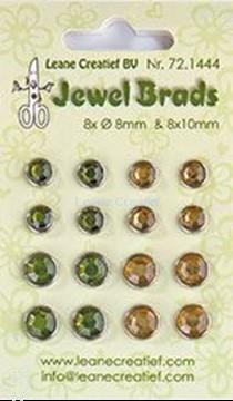 Afbeeldingen van Jewel brads moss green/light gold