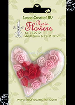 Afbeeldingen van Resin flowers roses pink