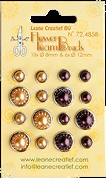 Afbeeldingen van Pearl brads yellow/brown