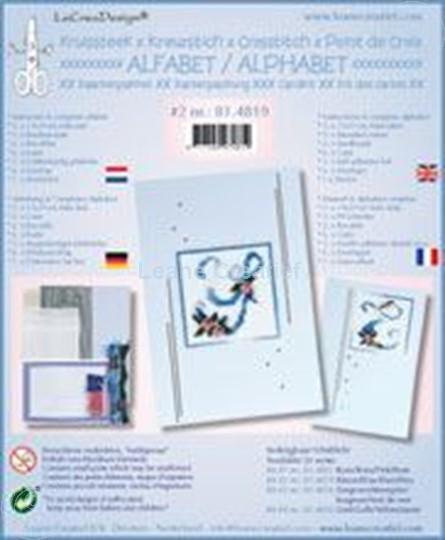 Bild von Alphabet Kreuzstich Karten mit Perlen Bastelpackung #2