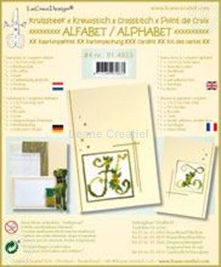 Bild von Alphabet Kreuzstich Karten mit Perlen Bastelpackung #4