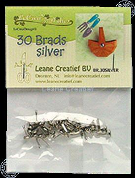 Afbeeldingen van 30 Brads silver 5mm