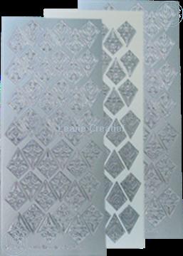 Afbeeldingen van LeCreaDesign® Rozetten stickers zilver