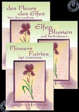 Bild von Elfen & Blumen auf Keilrahmen