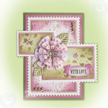 Afbeeldingen van Fantasy paper flower on frame pink